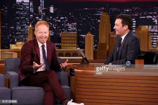 Actor Jesse Tyler Ferguson during an interview with host Jimmy Fallon on February 6 2018