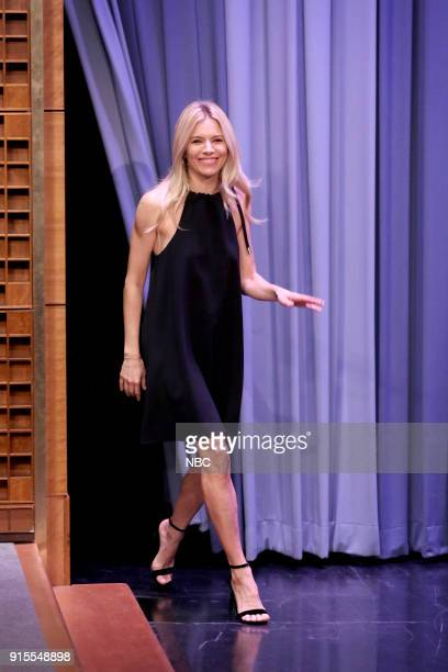 Actress Sienna Miller arrives for an interview on February 7 2018