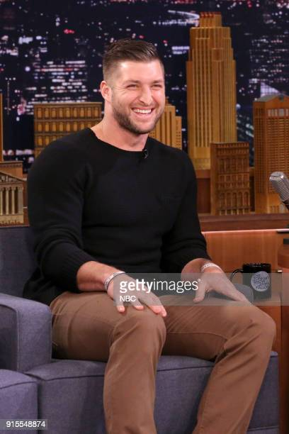 Athlete Tim Tebow during an interview on February 7 2018