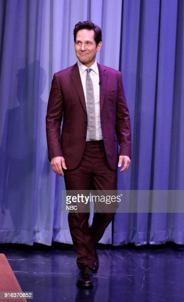 Actor Paul Rudd arrives for an interview on February 9 2018