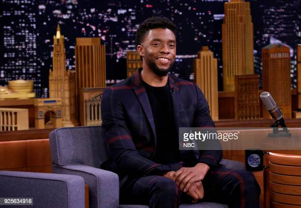 Actor Chadwick Boseman during an interview on February 28 2018