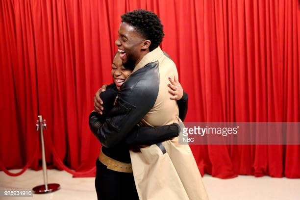 Actor Chadwick Boseman surprises fans on February 28 2018