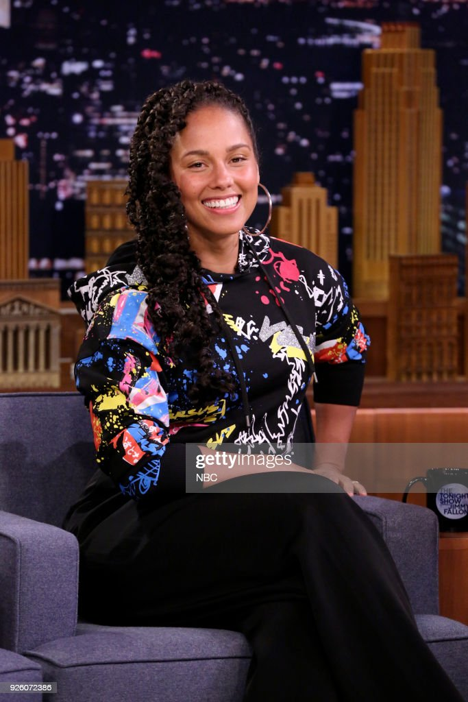 Musician Alicia Keys during an interview on March 1, 2018 --