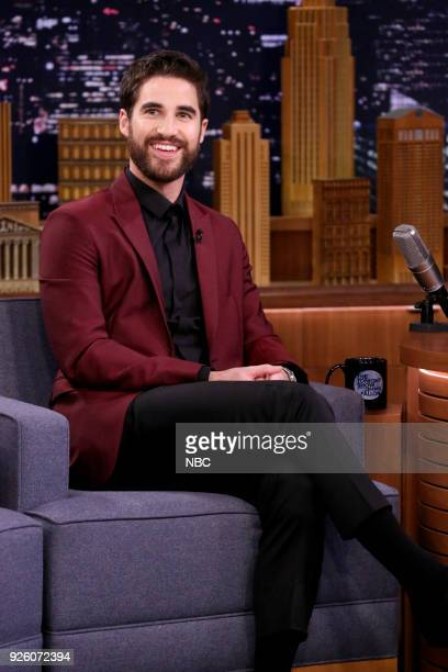 Actor Darren Criss during an interview on March 2 2018