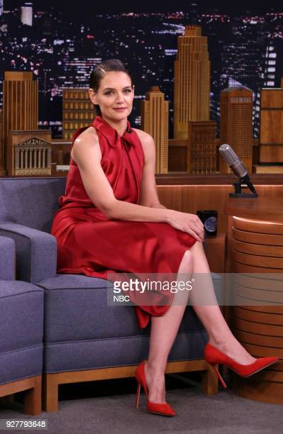 Actress Katie Holmes during an interview on March 5 2018