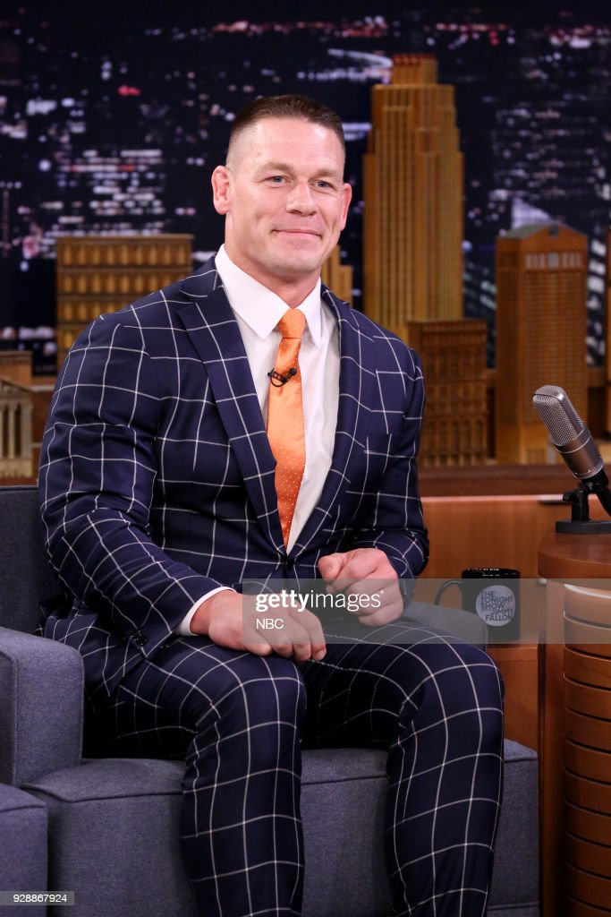 Wrestler/Actor John Cena during an interview on March 7, 2018 --