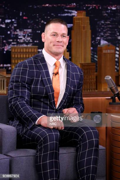 Wrestler/Actor John Cena during an interview on March 7 2018