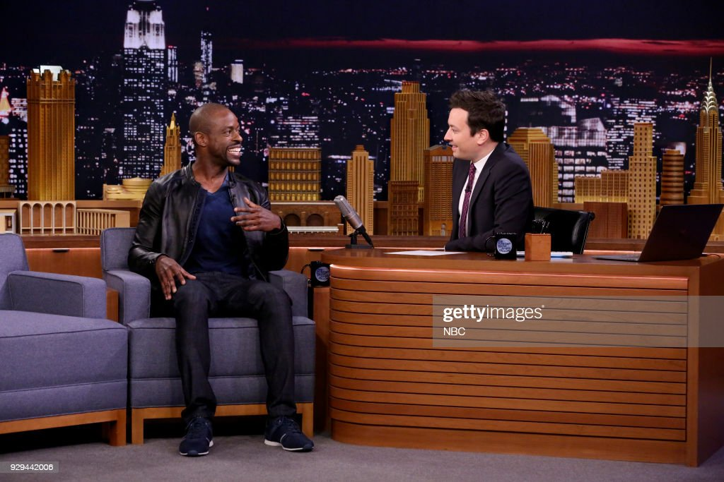 Actor Sterling K. Brown during an interview with host Jimmy Fallon on March 8, 2018 --