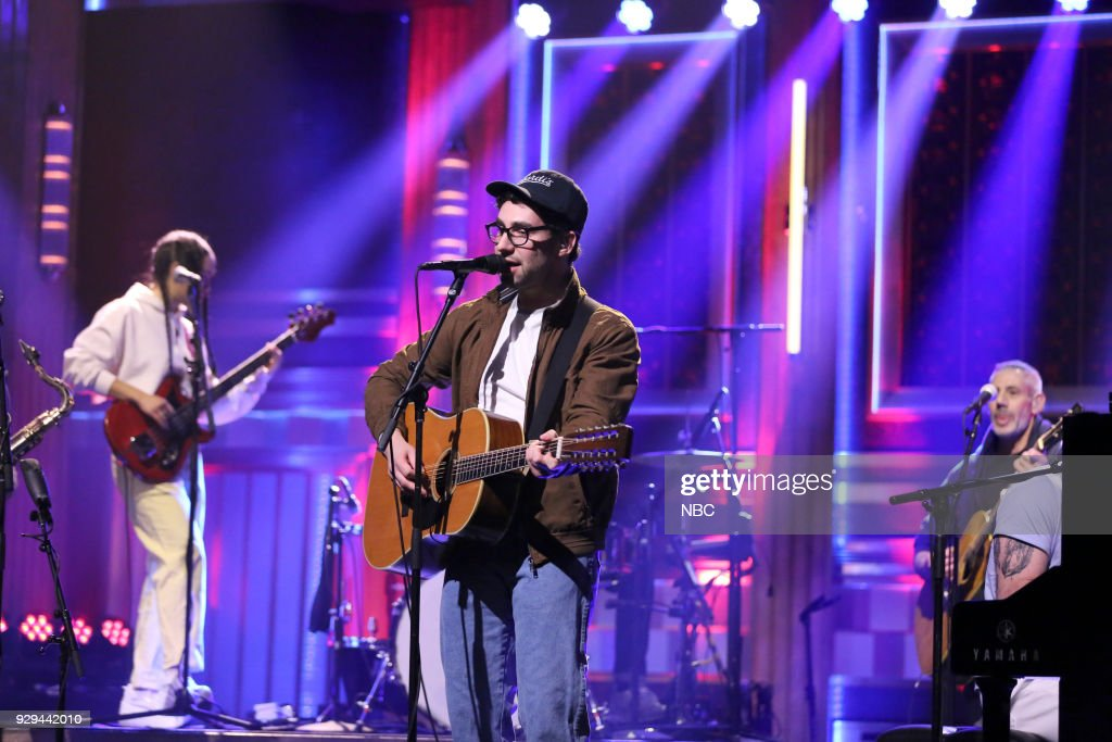Musical Guest Bleachers performs 'Alfie's Song' on March 8, 2018 --