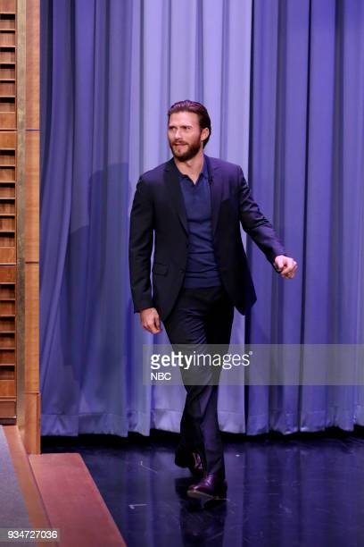 Actor Scott Eastwood arrives for an interview on March 19 2018