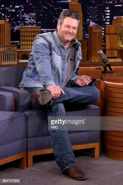 Musician Blake Shelton during an interview on March 19 2018