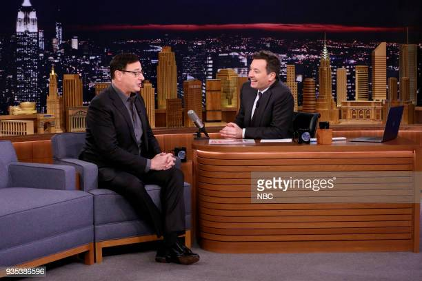 Comedian Bob Saget during an interview with host Jimmy Fallon on March 20 2018