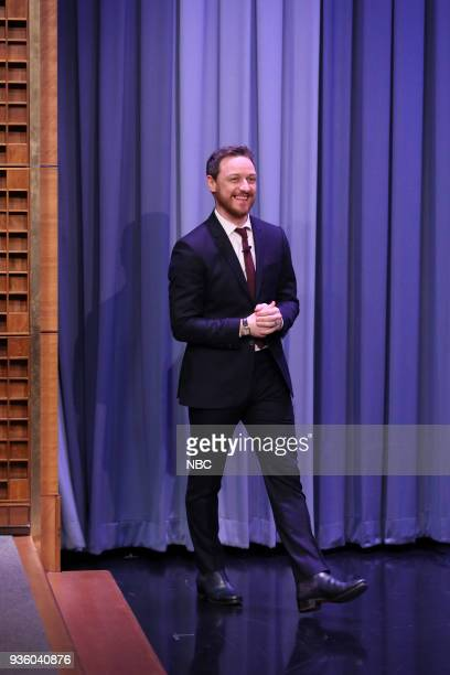 Actor James McAvoy arrives for an interview on March 21 2018