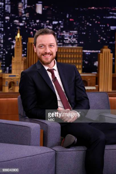 Actor James McAvoy during an interview on March 21 2018