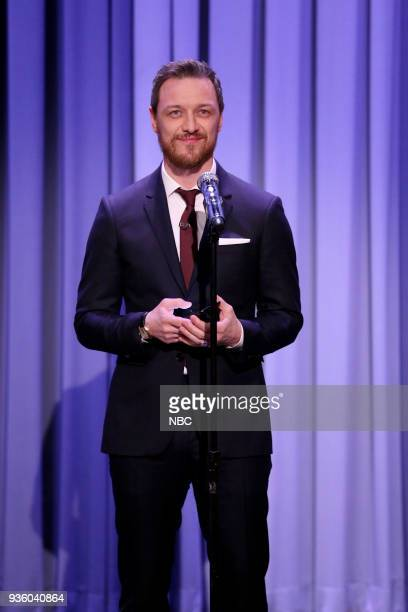 Actor James McAvoy during 'Suggestion Box' on March 21 2018