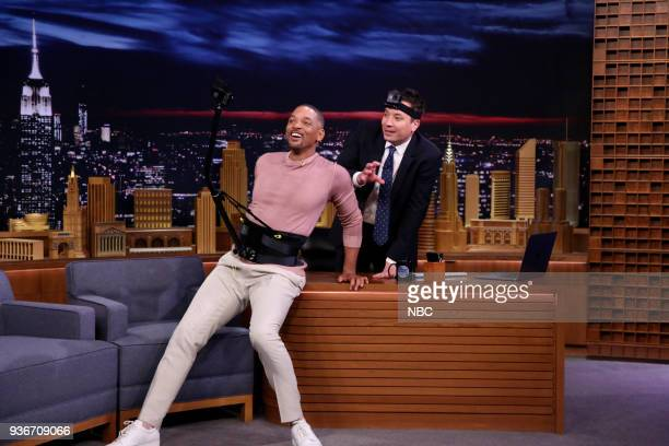 Actor Will Smith during an interview with host Jimmy Fallon on March 22 2018