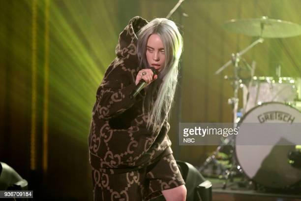 Musical Guest Billie Eilish performs 'Bellyache' on March 22 2018