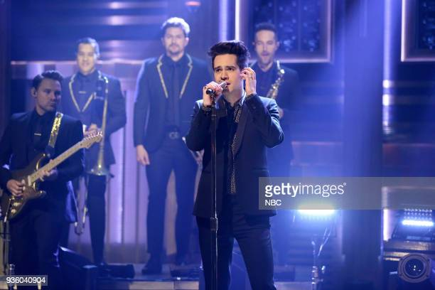 Musical Guest Panic at the Disco performs 'Say Amen ' on March 21 2018