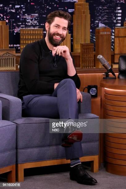 Actor John Krasinski during an interview on April 3 2018
