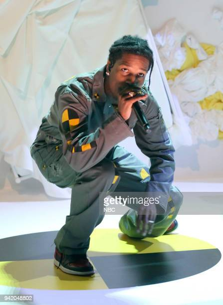 Musical Guest A$SP Rocky performs A$SP Forever/Distorted Records on April 4 2018