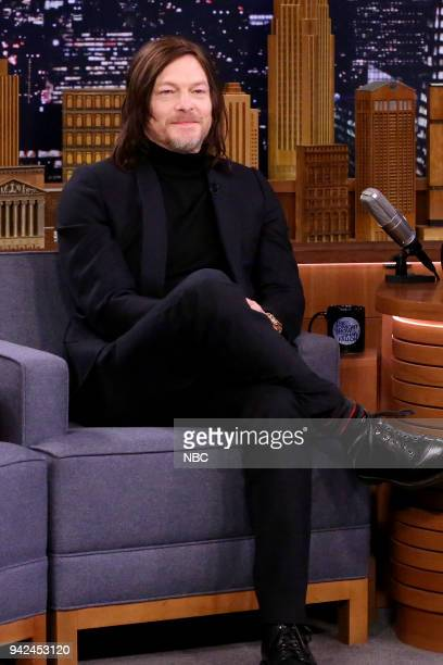 Actor Norman Reedus during an interview on April 5 2018