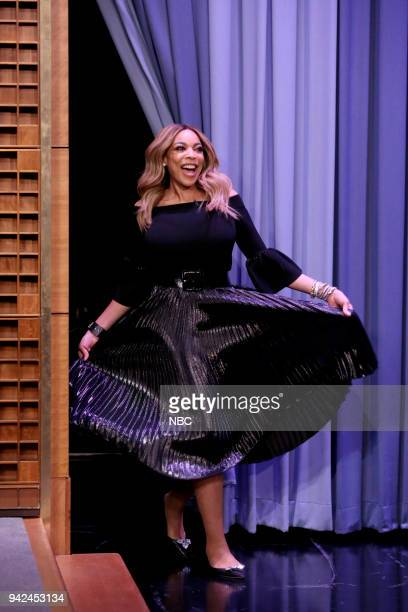 Television Host Wendy Williams arrives for an interview on April 5 2018