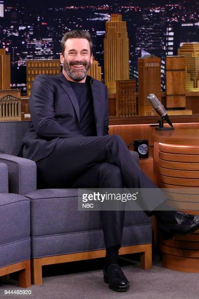 Actor Jon Hamm during an interview on April 10 2018