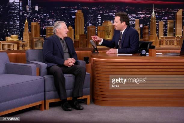 Actor Robert De Niro during an interview with host Jimmy Fallon on April 16 2018