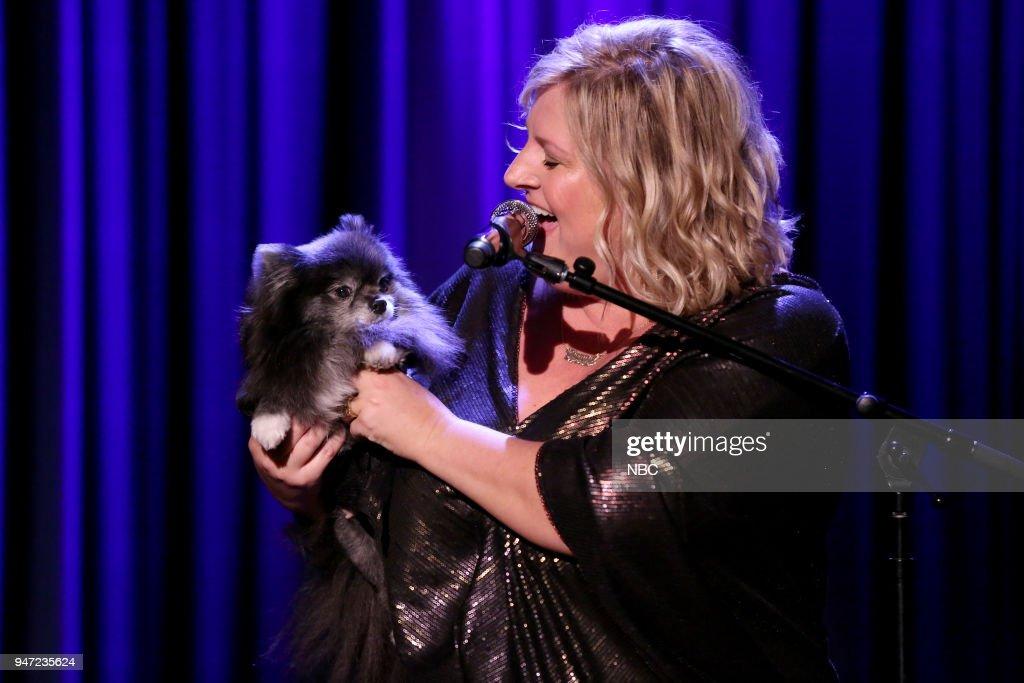 Comedian Bridget Everett performs on April 16, 2018 --