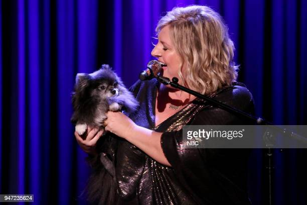 Comedian Bridget Everett performs on April 16 2018