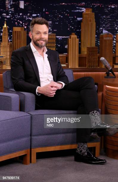 Comedian Joel McHale during an interview on April 17 2018