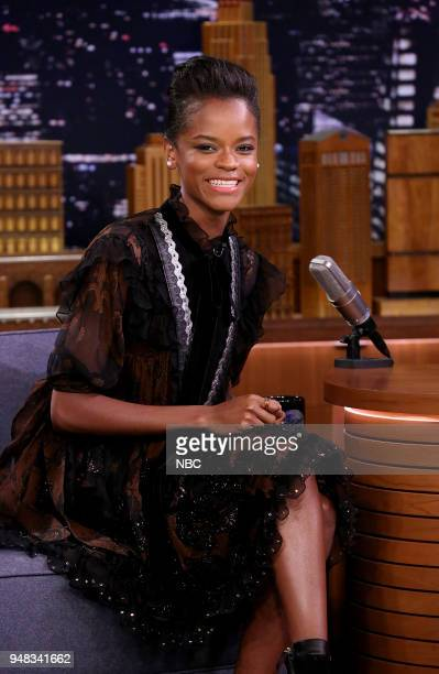 Actress Letitia Wright during an interview on April 18 2018