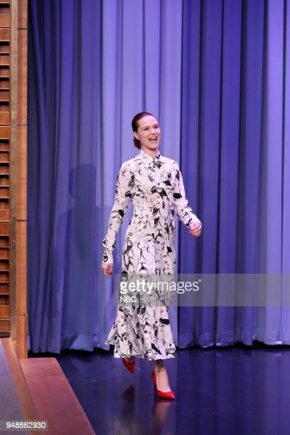Actress Evan Rachel Wood arrives for an interview on April 19 2018