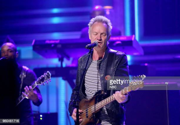 Musical Guest Sting performs 'Don't Make Me Wait' on April 23 2018