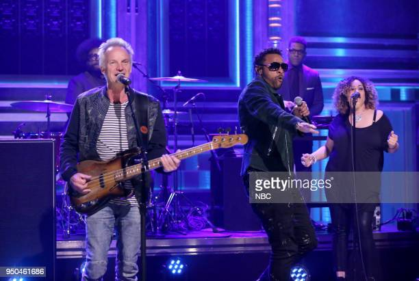Musical Guests Sting and Shaggy perform 'Don't Make Me Wait' on April 23 2018