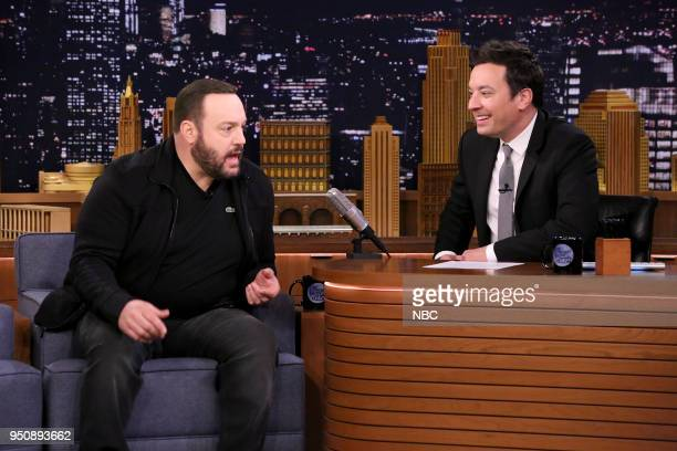 Comedian/Actor Kevin James during an interview with host Jimmy Fallon on April 24 2018