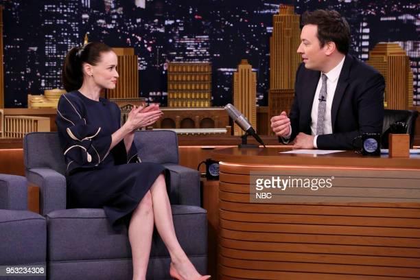 Actress Alexis Bledel Host Jimmy Fallon on April 26 2018