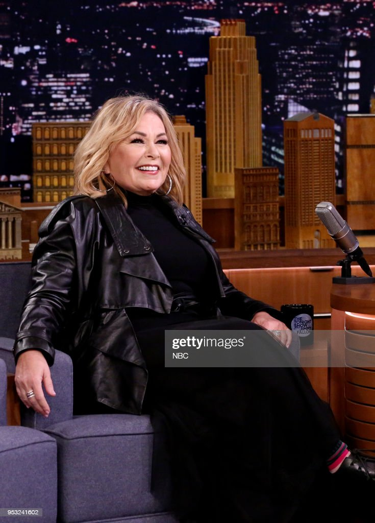 """NBC's """"Tonight Show Starring Jimmy Fallon"""" with Guests Roseanne Barr, Tony Hale, Miguel"""