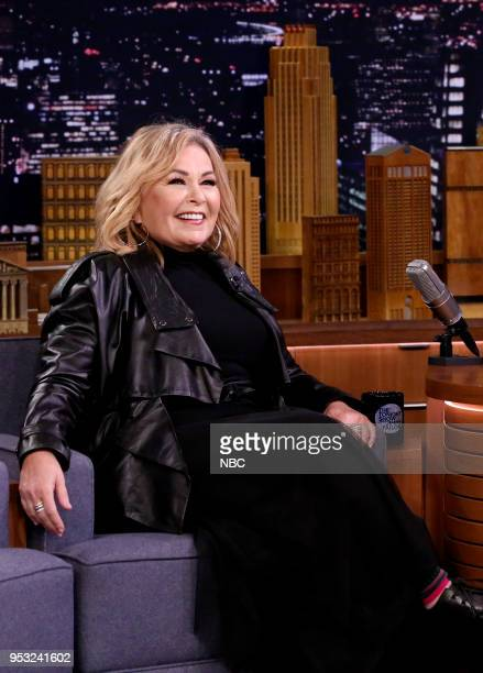 Episode 0861 -- Pictured: Comedian/Actress Roseanne Barr during an interview on April 31, 2018 --