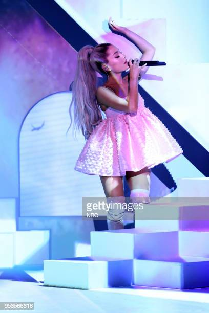Singer Ariana Grande performs 'No Tears Left To Cry' on May 1 2018