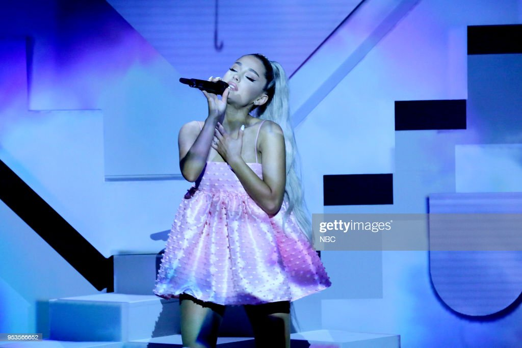 Singer Ariana Grande Performs No Tears Left To Cry On May 1