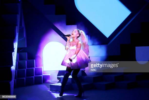 Singer Ariana Grande performs No Tears Left To Cry on May 1 2018