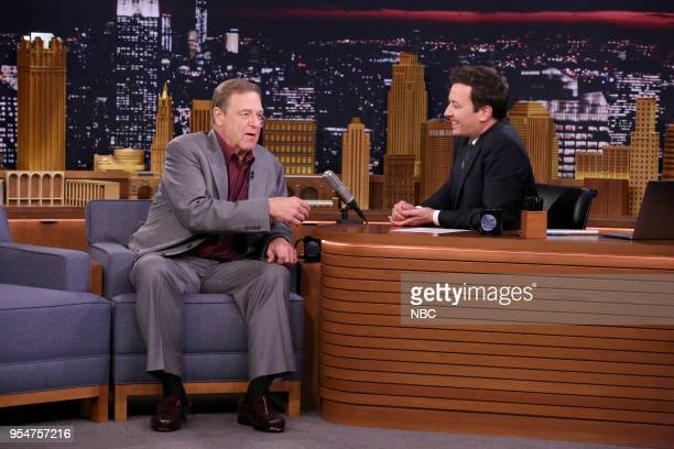 Actor John Goodman during an interview with host Jimmy Fallon on May 4 2018