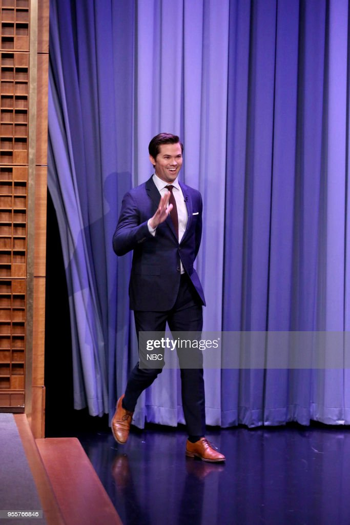 Actor Andrew Rannells arrives for an interview on May 7, 2018 --