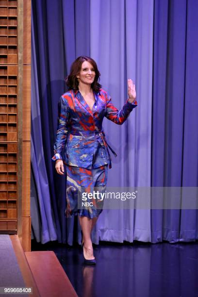 Comedian/Actress/Producer Tina Fey arrives for an interview on May 18 2018
