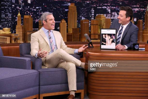 Andy Cohen during an interview with host Jimmy Fallon on May 23 2018