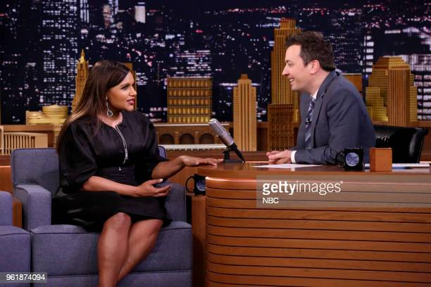 Comedian/Actress Mindy Kaling during an interview with host Jimmy Fallon on May 23 2018