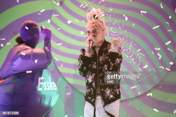 Musical Guest Lil Pump performs 'Esskeetit' on May 23 2018