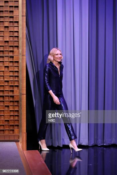 Actress Cate Blanchett arrives for an interview on May 24 2018