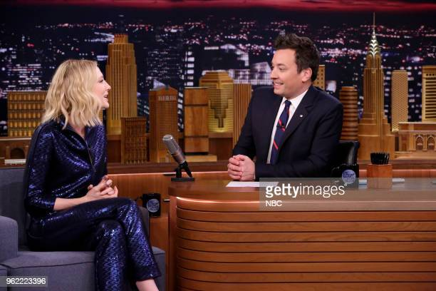 Actress Cate Blanchett during an interview with host Jimmy Fallon on May 24 2018